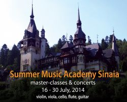 EUROPAfest 2014 lanseaza Summer Music Academy Sinaia, Where Nature meets Culture, 16 - 30 iulie 2014