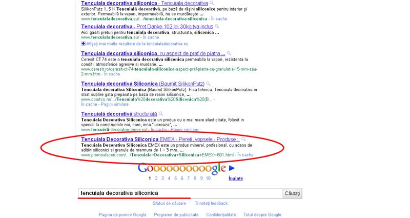 Tencuiala Decorativa Siliconica Baumit.Relevanta In Google Optimizare Si Promovare Online Pentru Firme